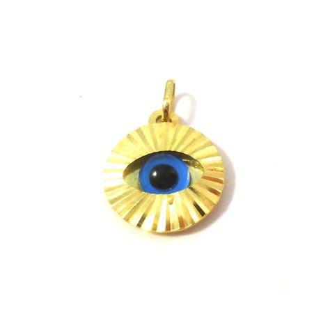ciondoli porta fortuna ciondolo occhio portafortuna in oro giallo collana