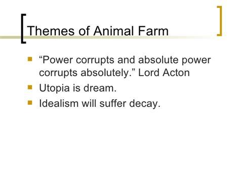 themes of animal farm animal farm introduction