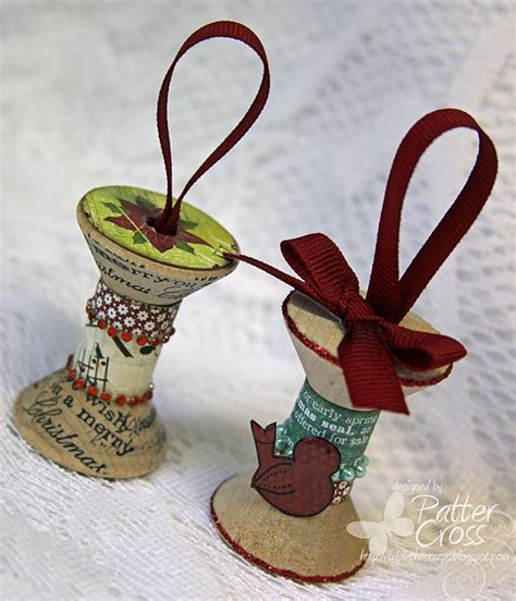 spool ornaments via flickr craft ideas pinterest