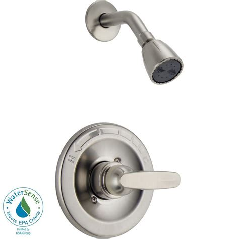 Shower Only Faucets by Delta Foundations 1 Handle Shower Only Faucet Trim Kit In Stainless Valve Not Included Bt13210