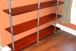 Pole Mount Shelf by Build A Pole Mounted Floating Bookshelf