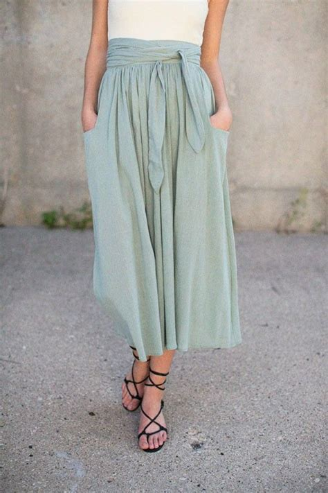 17 best ideas about midi skirts on modest church fall and green