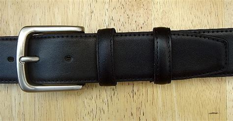 mens black leather money belt 1 1 2 quot wide sz 42 8400 ebay