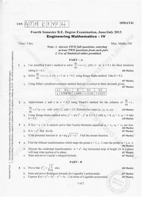 Vtu Mba 2nd Sem Syllabus 2017 by Engineering Mathematics Papers 2018 Dodge Reviews