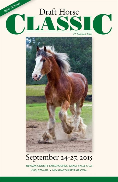 2015 Draft Horse Classic Poster Nevada County Classic Grass Valley Ca