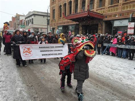 new year parade in chicago barrington students walk in lunar new year parade