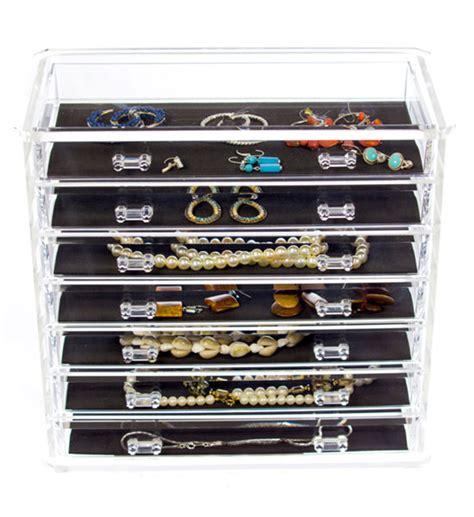 Acrylic Jewelry Organizer Drawers by Seven Drawer Acrylic Jewelry Chest In Jewelry Boxes And