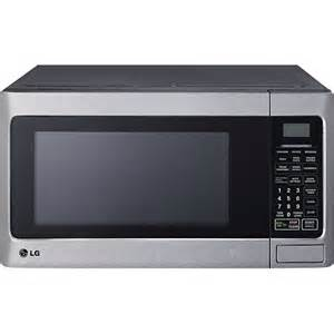 lg 1 1 cu ft midsize microwave silver lcs1112st best buy
