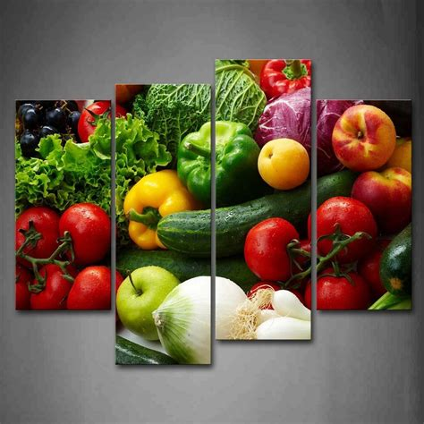 colorful  vegetables wall art painting pictures