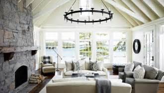 Muskoka Interior Design Living Room Vaulted Ceiling Design Ideas