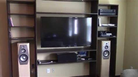 tell you how to build an entertainment wall unit share how to build a built in entertainment center youtube