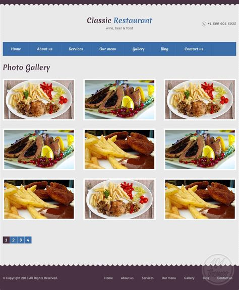 themeforest restaurant restaurant review a html restaurant template by themeforest