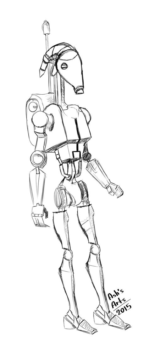 X2 Coloring Page by Battle Droid Coloring Pages Sketch Coloring Page