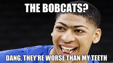 Dang Meme - the bobcats dang they re worse than my teeth misc