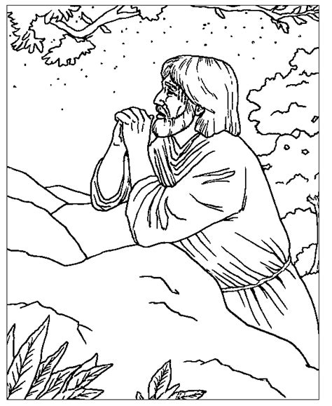 coloring pages jesus praying that all may be one coloring page