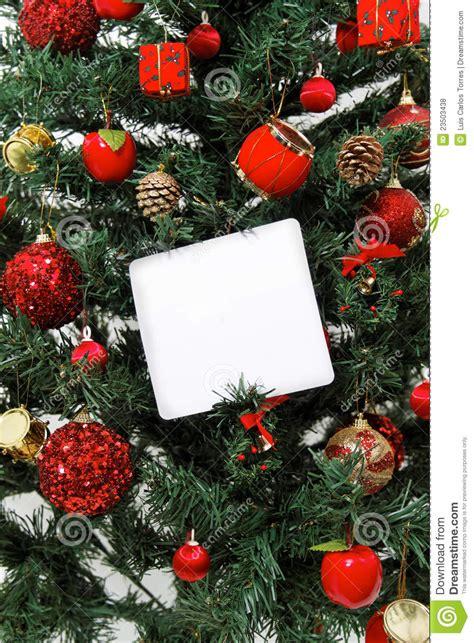 christmas tree message royalty free stock photos image