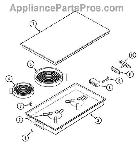 whirlpool cooktop parts whirlpool wp5705m140 60 cooktop appliancepartspros