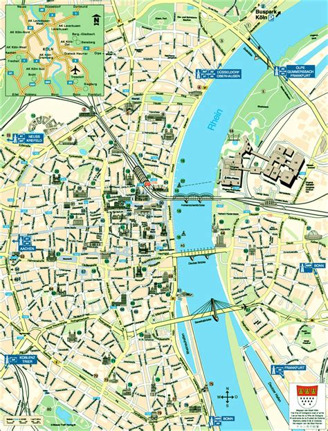 map of koln germany map of cologne bonn tourist travelquaz