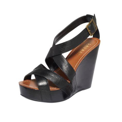 by ralph platform wedge sandals in