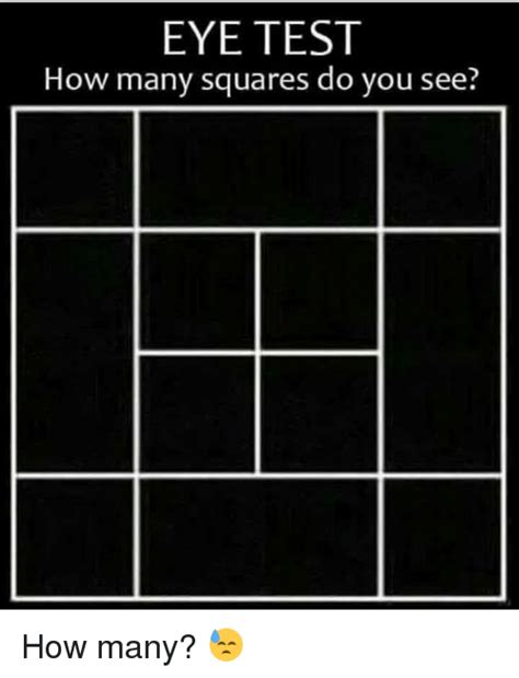 25 best memes about eye test how many squares eye test how many squares memes