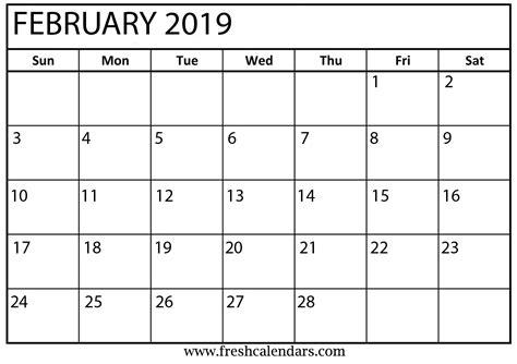 february calendar printable fresh calendars