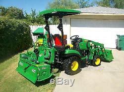 john deere  compact tractor package tiller
