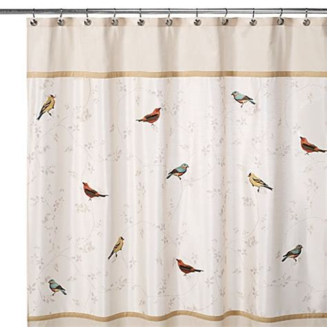 shower curtains with birds on them avanti gilded birds 70 inch x 72 inch shower curtain bed