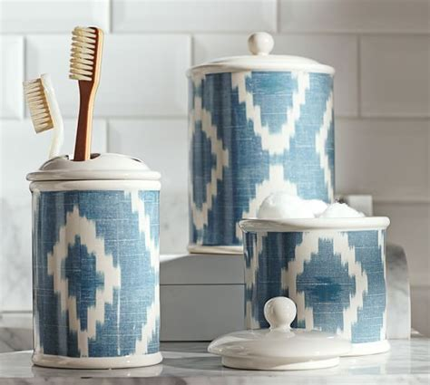 pottery bathroom accessories ikat bath accessories pottery barn