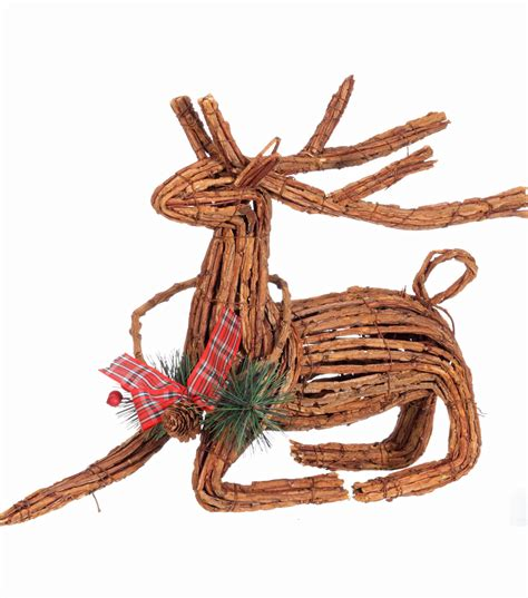 holiday cheer sitting rattan reindeer jo ann