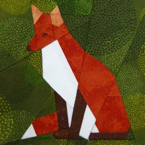 Fox Quilt Pattern by Fox Paper Piecing Quilt Pattern Pdf Patterns