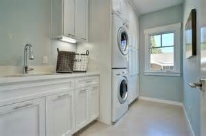 Laundry Room Cabinet Height Stacked Washer Dryer Transitional Laundry Room Fiorella Design