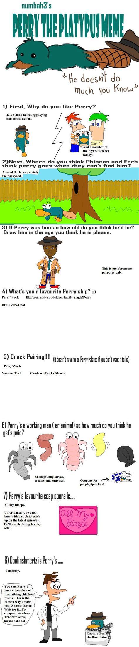 Perry The Platypus Meme - perry the platypus meme by xarti on deviantart