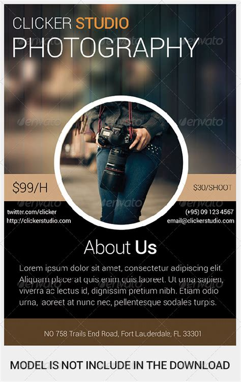 photographer design templates clicker photography flyer graphicriver