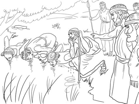coloring pages gideon army images