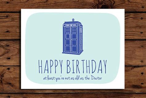 Doctor Who Birthday Cards Doctor Who Birthday Card Printable Funny By
