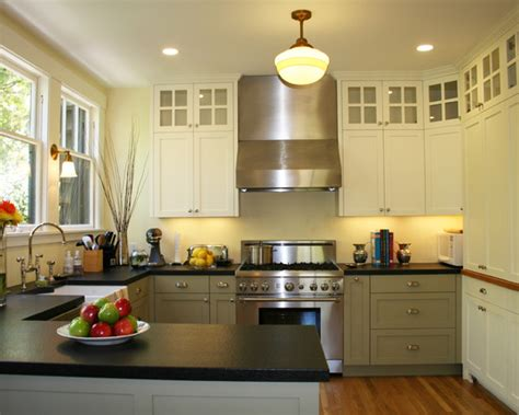 good Two Tone Painted Kitchen Cabinets #2: two-tone-kitchen.jpg