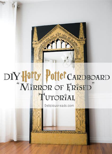 delicious reads diy harry potter cardboard mirror of erised tutorial