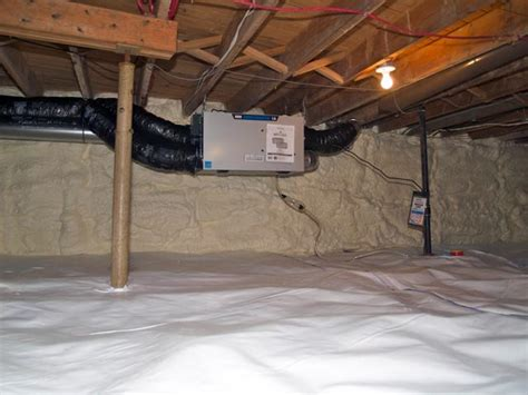 basement heating solutions heat recovery ventilator system installation in