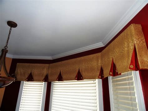 box bay window treatments bay window valance contemporary kitchen