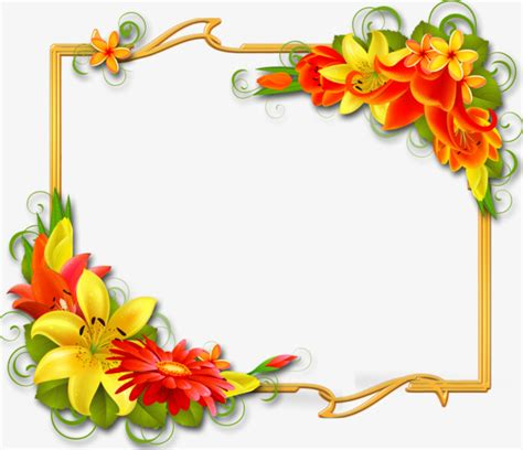 border design flower yellow floral yellow border flowers decorated floral border