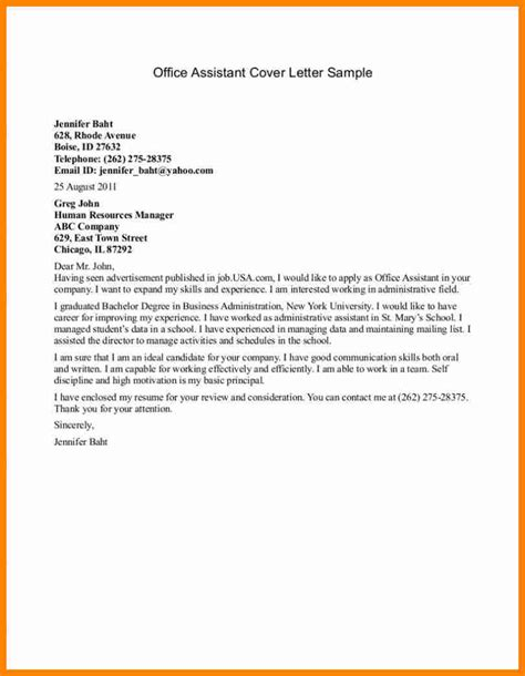 cover letter for internship assistant cover letter for assistant resume and cover