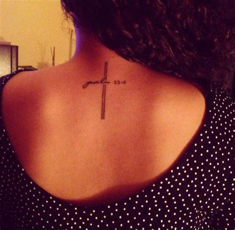 different cross tattoos my cross it says psalm 23 4 different place