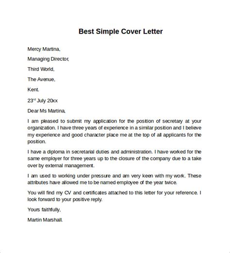 very simple cover letter gse bookbinder co