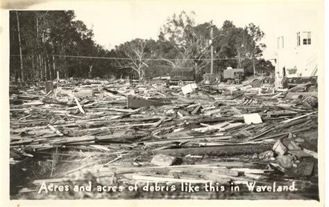 Hancock County Divorce Records Debris In Waveland Hurricane Of 1947 Photo Gallery