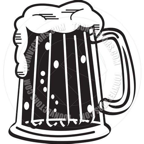 cartoon beer black and white big beer glass clipart cliparthut free clipart