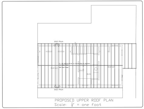flat roof plan roof framing plan modern house