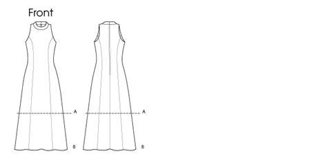 pattern cutting princess line v8808 misses misses petite dress very easy vogue