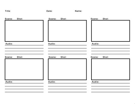 storyborad template professional blank animation storyboard template word pdf