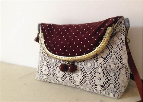 Lace Trim Coin Purse polka dot lace vintage style metal frame purse coin by