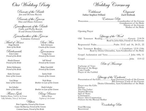 Catholic Wedding Ceremony Program Www Imgkid Com The Image Kid Has It Catholic Wedding Ceremony Program Without Mass Template